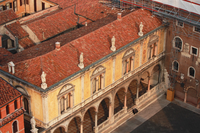 Italy, Verona, View from Tower in Piazza Erbe