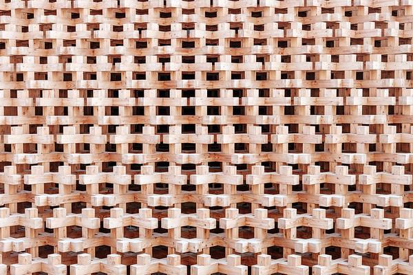 Facade of the japanese pavillon at the Milan universal exposition 2015
