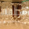 shelf of wine glasses