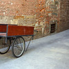Lucca - Brick Wall, Cart and Bike