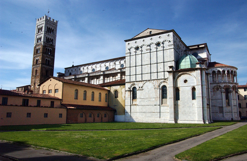 Lucca - White Building and Tower