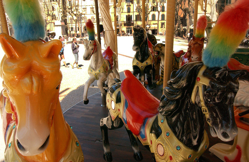 Lucca Piazza Napoleone Carousel Horses 2