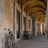 Lucca, bikes in tunnel