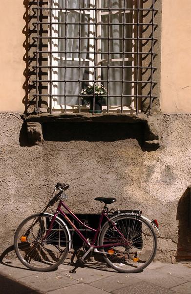Lucca Bike under window