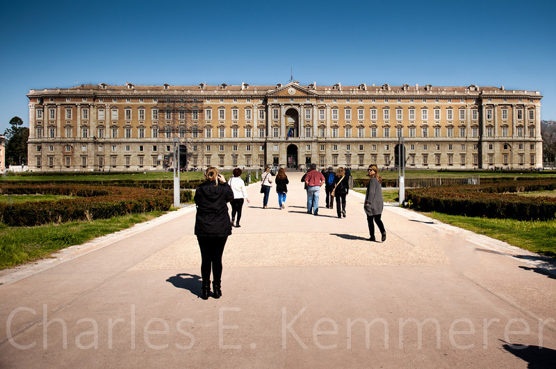 This is the front entrance and parade grounds in front of the palace.