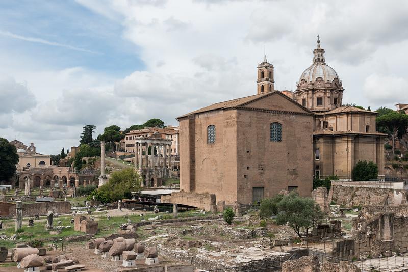 368-6016 Curia Julia and Chiesa dei Santi Luca e Martina, Rome, September 10, 2013