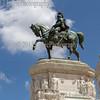 Victor Emmanuel II monument's statue.