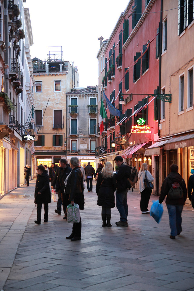 Evening shoppers, Venice, Italy