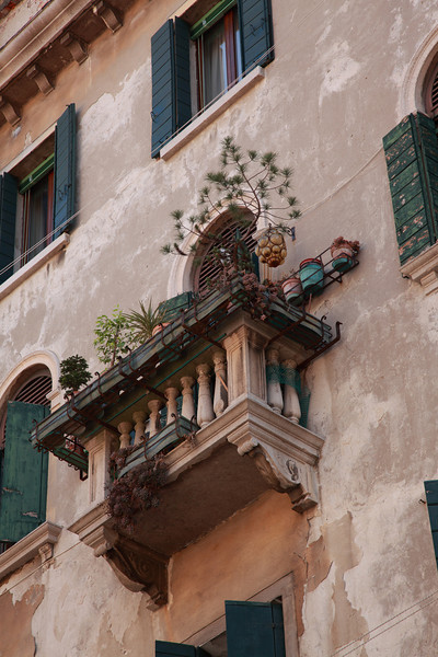 Balcony in Venice, Italy