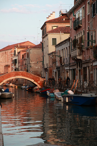 A bridge across a canal in Venice, Italy