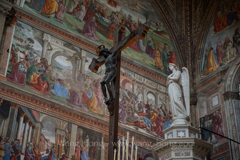 Inside Santa Maria Novelle, Rome.