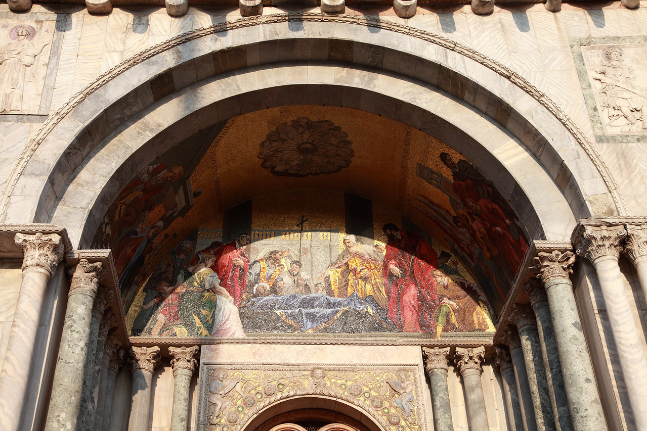 Mosaic in an archway in St Mark's Basilica, Venice, Italy