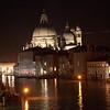 The Basilica of Santa Maria della Salute, Canal Grande, Venice, Italy, at night