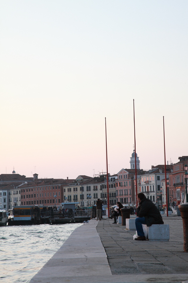 Looking across the water from Riva degli Schiavoni, Venice, Italy