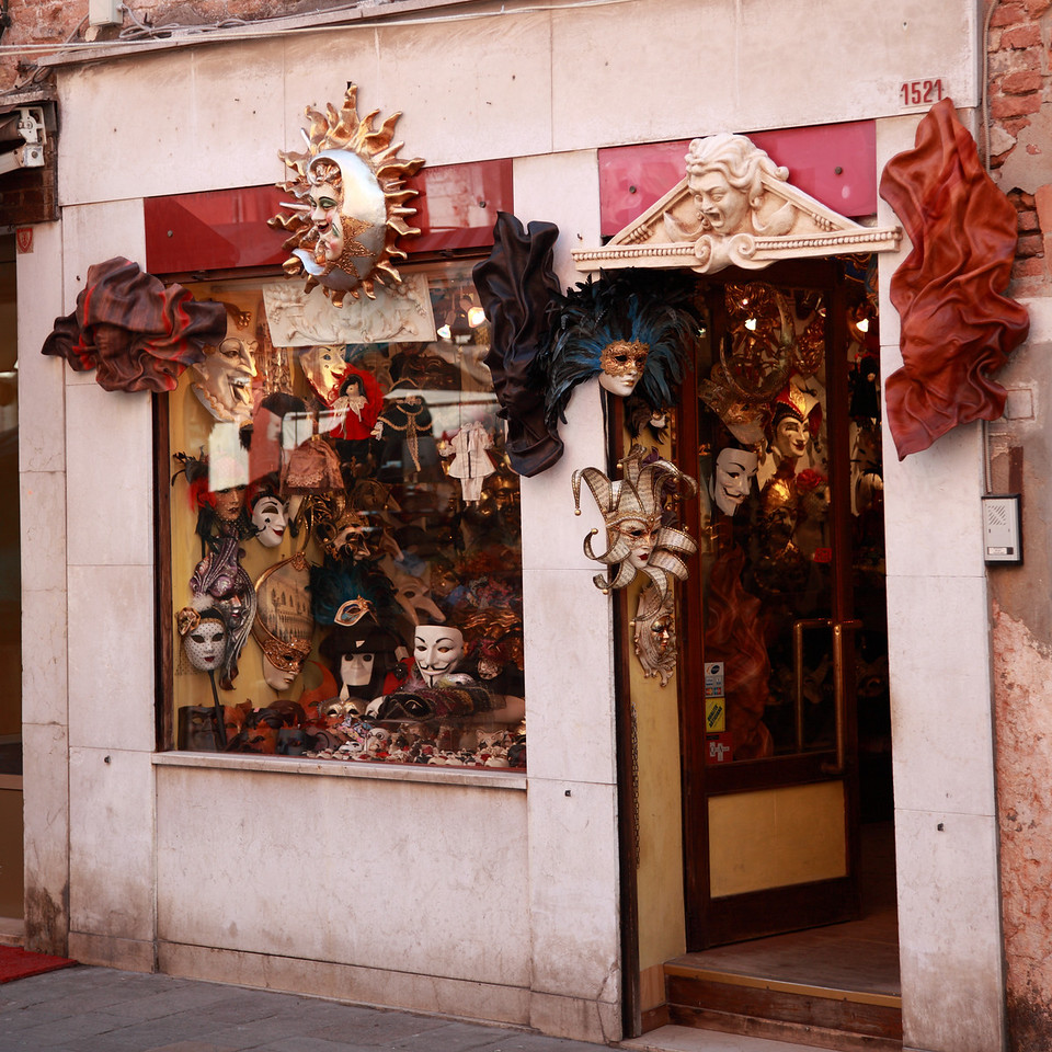 A shop selling masks in Venice