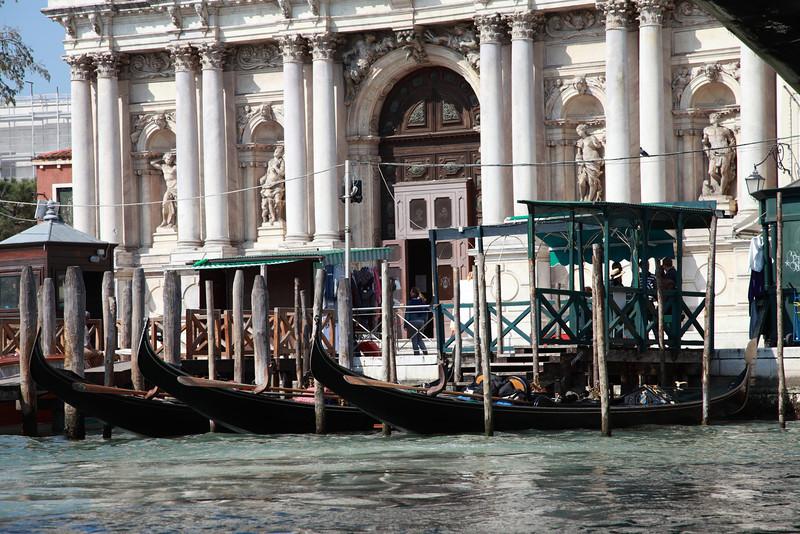 Moored gondolas, Venice, Italy
