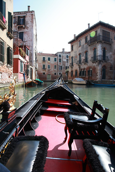 Venice, seen from a gondola