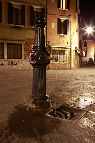 Water fountain in Venice, Italy