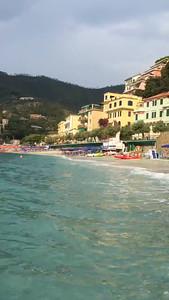 Video - one of the beaches in Monterosso al Mare.