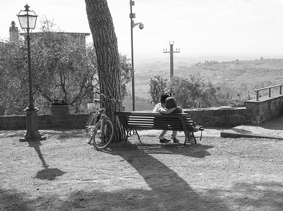 Park Bench Liason in Tuscany
