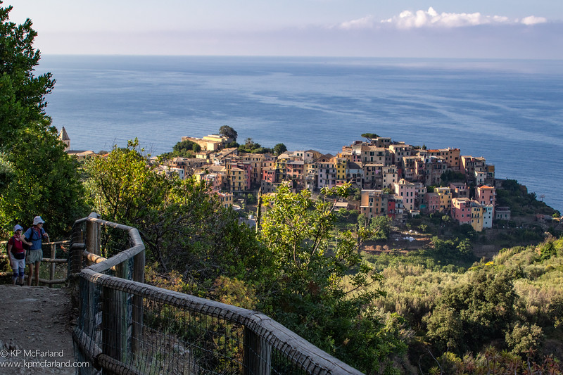 View to Corniglia village  from the Sentiero Azzuro trail.