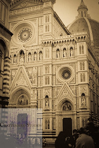 Florence Italy in Sepia Tone.
