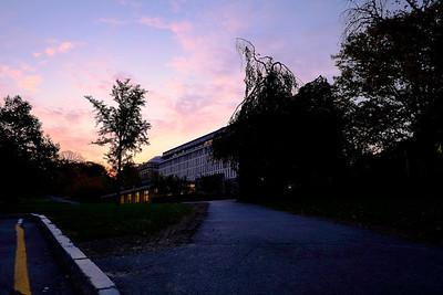 Sunrise, Olin Library