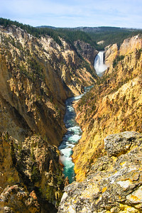 Lower Falls at Yellowstone national Park in Wyoming