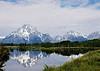 Teton Mountain Range from Oxbow Bend.  Film