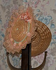 These two cute hats were on a rack in my room. Jailer's Inn, Bardstown, Kentucky