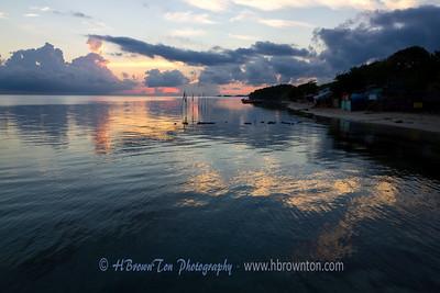Pre-dawn light over Carribean