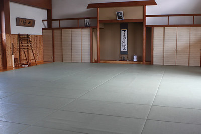 The training area at the dojo