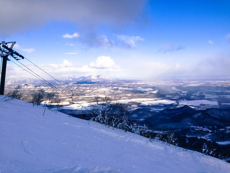 Skiing in Sahoro