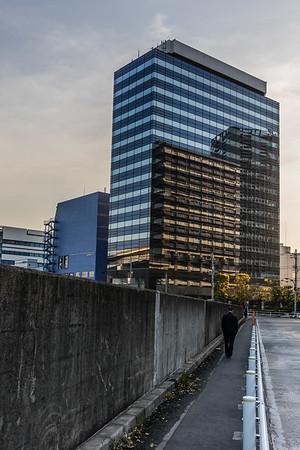 Man Walking in Tokyo Japan