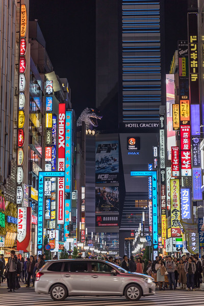 Busy Street in Shinjuku, Japan