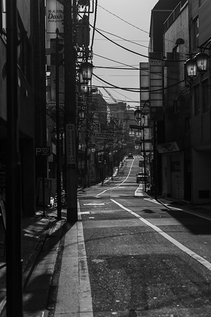 An Empty Street in Shinjuku, Japan