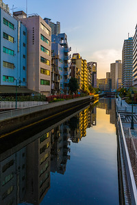 Colorful River in Tokyo Japan