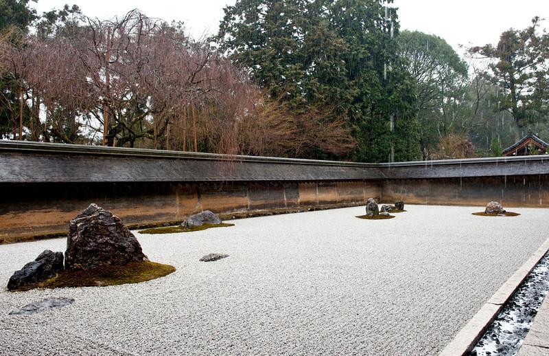 Zen garden, Ryonji Temple, Kyoto