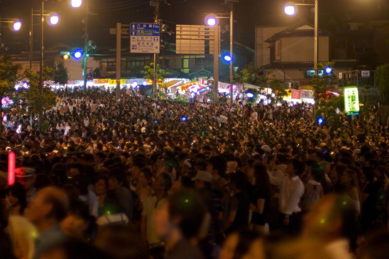 It was a bit crowded...