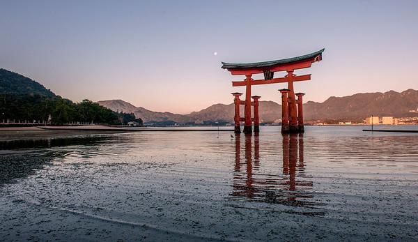 The Great Torii at Itsukushima Shrine, Miyajima, Hiroshima
