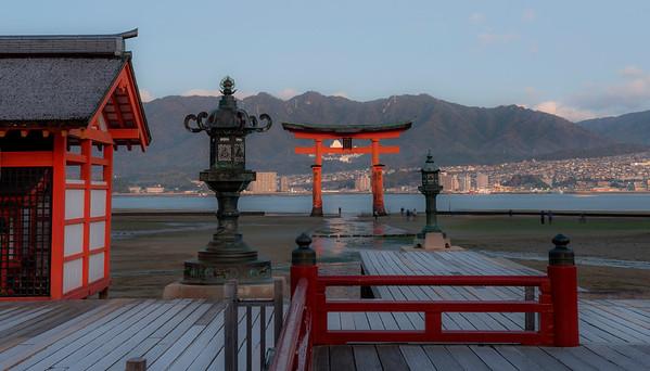 At Itsukushima Shrine, Miyajima, Hiroshima