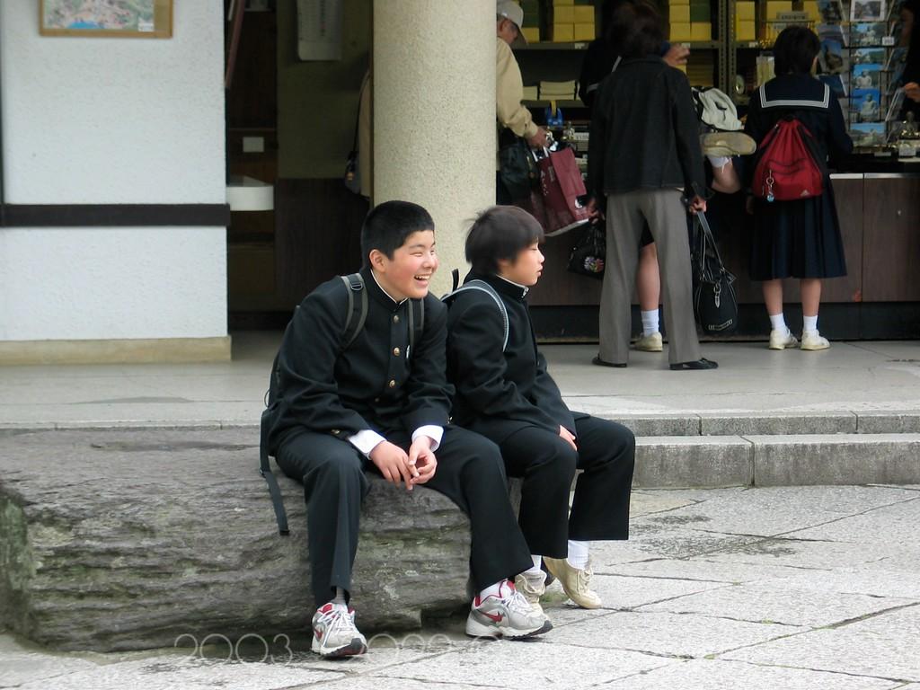 """School Boys"" Kamakura, Japan"