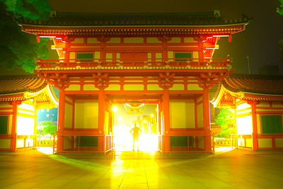 Susanne in the Yasaka shrine gate HDR (surreal)