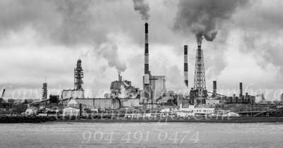 Paper Mill - Kushiro - B&W Copyright 2017 Steve Leimberg - UnSeenImages Com _Z2A3795