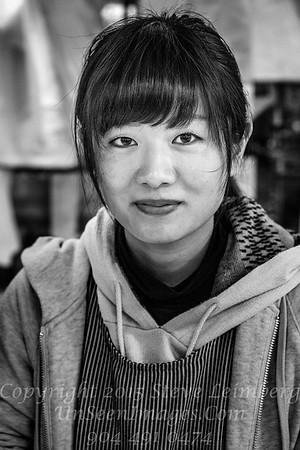 Pretty Girl Kushiro Fish Market - Copyright 2017 Steve Leimberg UnSeenImages Com _DSF4800