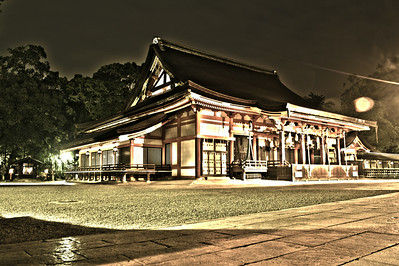 Yasaka Shrine (desaturated surreal)