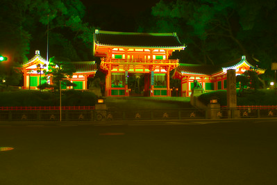 Yasaka shrine entrance HDR 1