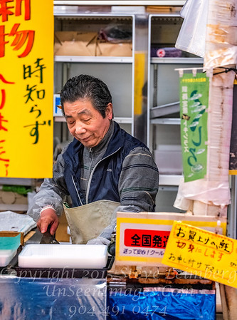 Cutting Fish at Kushiro Fish Market - Copyright 2017 Steve Leimberg - UnSeenImages Com _DSF4824