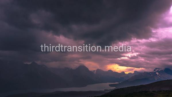 Maligne Lake Sunset