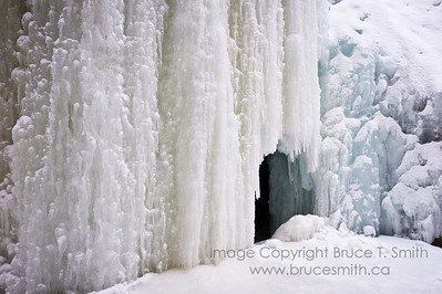 An icefall in Maligne Canyon, Jasper National Park.